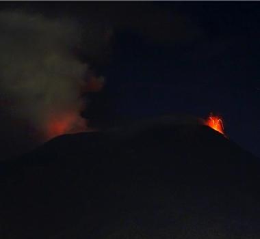 August 23 , 2018.  EN.  Alaska : Cleveland , Japan : Kuchinoerabujima , Colombia : Galeras , Indonesia : Anak Krakatau , Italy / Sicily : Etna.