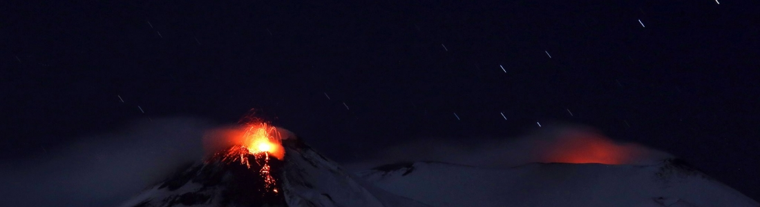 December 08 , 2018. EN . Italy / Sicily : Etna , Chile : Nevados de Chillan , Guatemala : Pacaya .