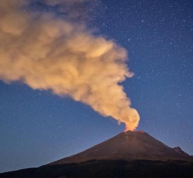 November 23 , 2018. EN.  Mexico : Popocatépetl , Alaska : Veniaminof , Colombia : Galeras , Japan : Meakandake .