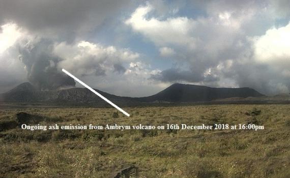 December 16 , 2018. EN.  Alaska : Veniaminof , Chile : Planchon Peteroa , Ecuador : Chiles / Cerro Negro , Vanuatu : Ambrym , Indonesia : Soputan .