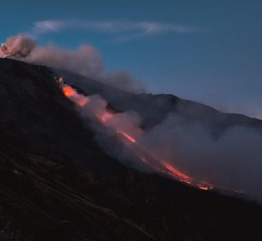 December 27 , 2018. EN . Italy / Sicily : Etna , Indonesia : Anak Krakatau , Philippines : Mayon , Peru : Sabancaya .