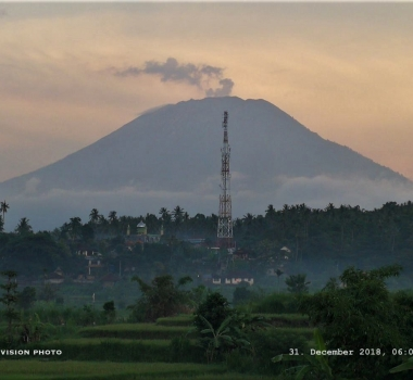 31 Décembre 2018.  FR. Equateur : Reventador , Philippines : Mayon , Indonésie : Agung , Mexique : Popocatepetl .
