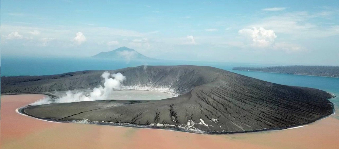 April 23, 2019 . EN . Indonesia : Anak Krakatau , Kamchatka : Sheveluch , Chile : Nevados of Chillan , Guatemala : Santiaguito .