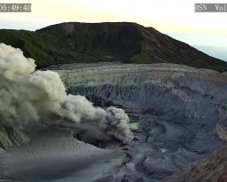 February 17 , 2019. EN . La Réunion : Piton de la Fournaise , Ecuador / Galapagos : Sierra Negra , Costa Rica : Poas / Turrialba , El Salvador : San Miguel ( Chaparrastique ) .
