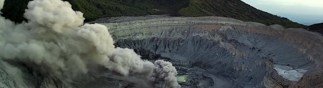 17 Fevrier 2019. FR. La Réunion : Piton de la Fournaise , Equateur / Galapagos : Sierra Negra , Costa Rica : Poas / Turrialba , El Salvador : San Miguel ( Chaparrastique ) .