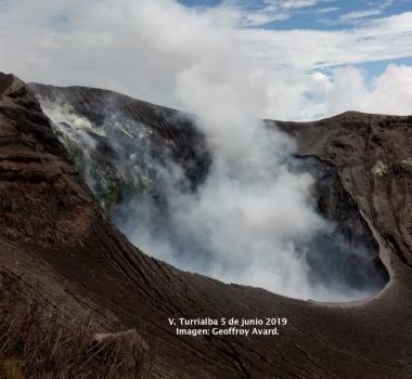 June 28, 2019. EN. Indonesia : Anak Krakatau , Philippines : Taal , Costa Rica : Turrialba / Poas / Rincon de la Vieja , Guadeloupe : La Soufriere , El Salvador : San Miguel (Chaparrastique) .