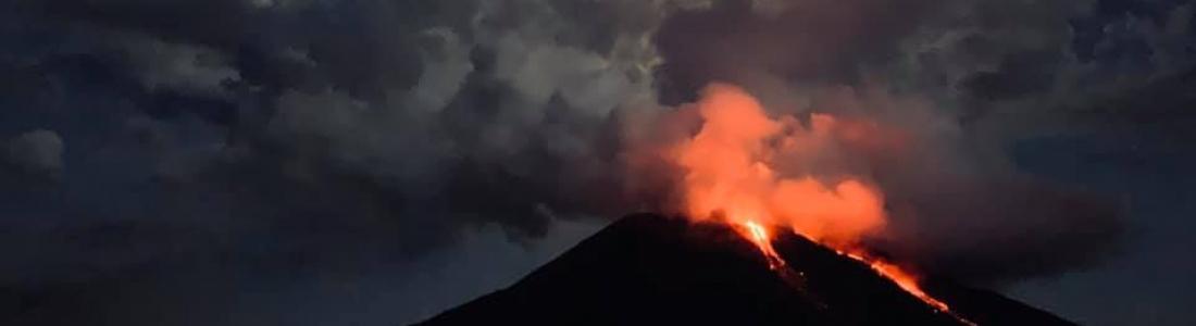 14 Juillet 2019. FR. Italie : Stromboli , Equateur : Sangay , Indonésie : Bromo , Guatemala : Fuego .