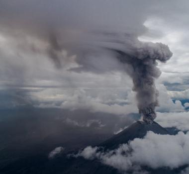 August 16, 2019. EN. La Reunion : Piton de la Fournaise , Indonesia : Merapi, Hawaii : Mauna Loa , Kamchatka : Karymsky .