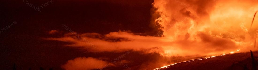 April 04 , 2020. EN . La Reunion : Piton de la Fournaise , Hawaii : Kilauea , Ecuador / Galapagos : Sierra Negra , Chile : Chaiten .