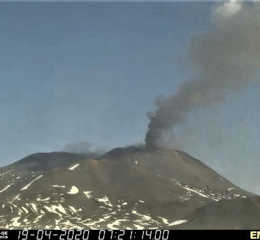 April 19, 2020. EN. Italy / Sicily : Etna .