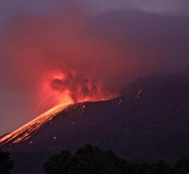 September 04, 2015. English . Kilauea, Sakurajima, Chaparrastique .
