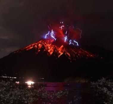 April 10, 2016. EN. Kilauea , Colima , Telica , Aira ( Sakurajima).