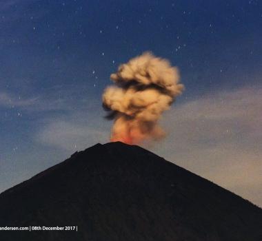 December 08 , 2017. EN. Agung , Öræfajökull , Kilauea , Ebeko , Fuego .