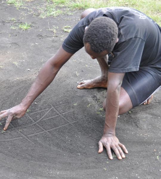 Dessins sur le sable, Vanuatu .