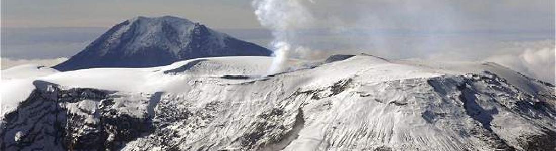 December 08 , 2016. EN.  Nevado Del Ruiz , Cayambe , Piton de la Fournaise , Langila .