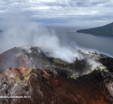 March 28 , 2017. EN.  Klyuchevskoy , Anak Krakatau , Nevado Del Ruiz , Sabancaya .