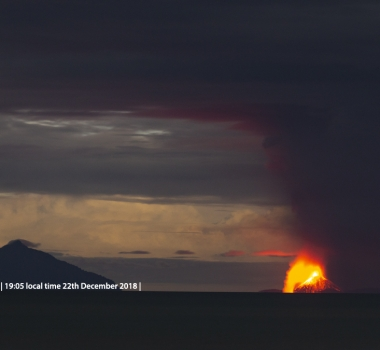 December 29 , 2018.  EN.  Indonesia : Anak Krakatau , Alaska : Cleveland , Iceland : Bárðarbunga , El Salvador : San Miguel ( Chaparrastique ) , Indonesia : Merapi .