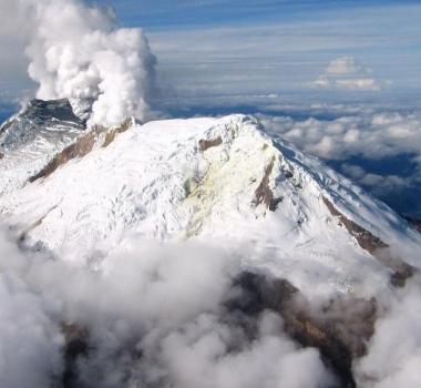 October 13 , 2018. EN.  La Réunion : Piton de la Fournaise , Colombia : Nevado del Huilà , Guatemala : Fuego , Alaska : Semisopochnoi , Ecuador : Cuicocha .