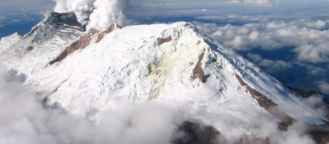 13 Octobre 2018. FR. La Réunion : Piton de la Fournaise , Colombie : Nevado del Huilà , Guatemala : Fuego , Alaska : Semisopochnoi , Equateur : Cuicocha .