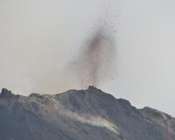 April 25, 2019 . EN . Italy / Sicily : Stromboli , Colombia : Nevado del Ruiz , Japan : Aira Caldera (Sakurajima) , Vanuatu Archipelago : Ambae .
