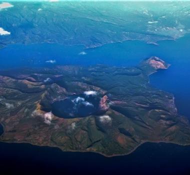 December 23, 2019. EN . New Zealand : White Island , Philippines : Taal , Ecuador : Reventador , Guatemala : Santiaguito .