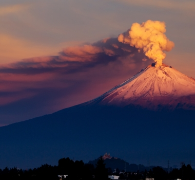 January  17 , 2019.  EN.  Colombia : Nevado del Ruiz , Kilauea : Hawaii , Indonesia : Agung , Japan : Kuchinoerabujima , La Guadeloupe : La Soufrière , Mexico : Popocatepetl .