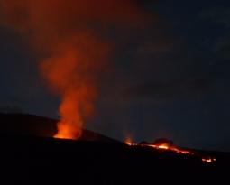 February 22 , 2019.  EN.  La Réunion : Piton de la Fournaise , Hawaii : Kilauea , Colombia : Nevado del Ruiz , Kamchatka : Sheveluch , El Salvador : Santa Ana (Ilamatepec) .