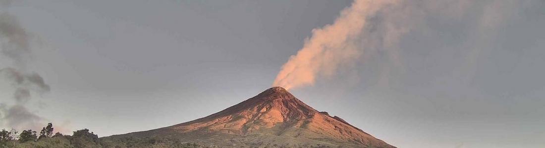 08 Mars 2019 . FR . La Réunion : Piton de la Fournaise , Indonesie : Merapi , Chili : Chaiten , Philippines : Mayon , Montserrat : Soufrière Hills .