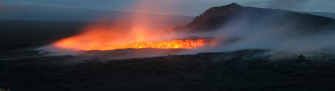 February 25 , 2018 . EN.  Mayon , Nevado del Ruiz , Kilauea , Santiaguito , Ibu .