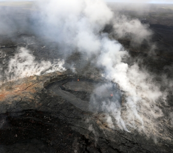 April 18 , 2018. EN. Fuego , Pu'u 'Ō'ō , Chiles / Cerro Negro , Kanlaon .