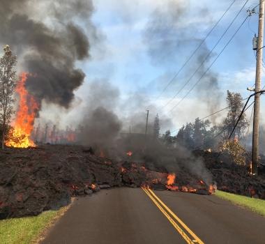 May 6 , 2018. EN.  Pu'u 'Ō'ō. / Kilauea , Piton de la Fournaise , Cleveland , San Miguel ( Chaparrastique) .
