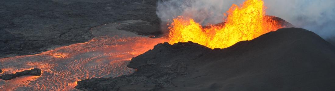 June 06 , 2018. EN.   Pu'u 'Ō'ō / Kilauea , Descabezado Grande , Fuego , Ibu , Ruapehu .