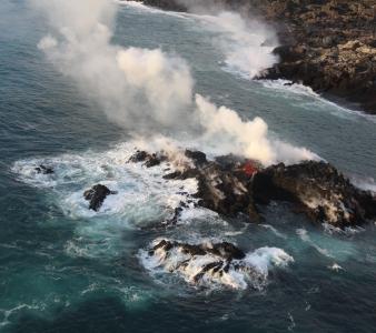 July 14 , 2018. EN.   La Réunion : Piton de la Fournaise , Chile , Nevados de Chillan , Iceland : Öræfajökull , Hawai : Kilauea , Activity of the Earth : Dr. Boris Behncke.