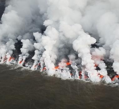 July 31 , 218. EN.  Peru : Sabancaya , Japan : Nishinoshima , Italy / Sicily : Etna , Hawai : Kilauea , Guatemala : Fuego .