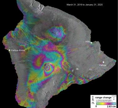 February 21, 2020. EN. Hawaii : Mauna Loa , Italy : Campi Flegrei , Chile : Nevados de Chillan , Iceland : Thorbjorn / Grindavík , Peru : Ubinas .