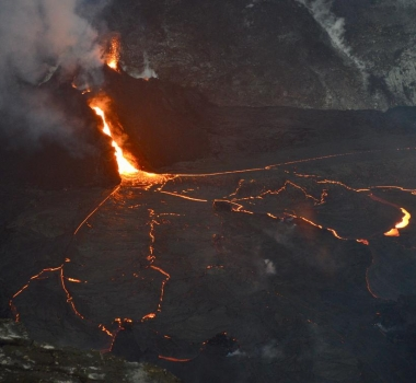 29 Janvier 2021. FR. Kamchatka : Klyuchevskoy , Hawaii : Kilauea , Indonésie : Raung , Equateur : Reventador .