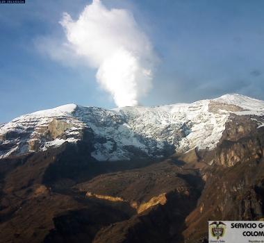 July 14, 2015.  English.   Colima , Nevado Del Ruiz, Raung.