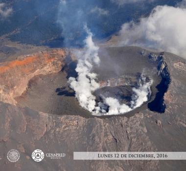December 14 , 2016. EN.  Popocatepetl , Nevado Del Ruiz , Bárðarbunga , Cayambe .