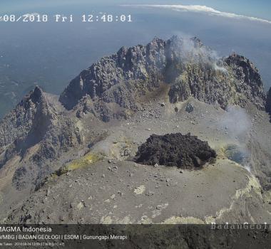 August 27 , 2018. EN.  Italy / Sicily : Etna , Indonesia : Merapi , Hawai : Kilauea , Guatemala : Fuego .