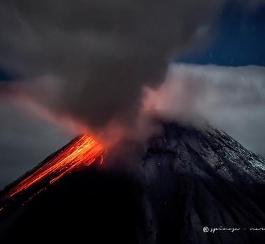 November 18 , 2016.  EN. Guallatiri , San Miguel ( Chaparrastique) , Kerinci ,  Popocatepetl , Tungurahua .
