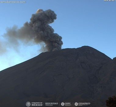 March 08 , 2020. EN . Chile : Nevados de Chillan , Indonesia : Merapi , Mexico : Popocatepetl , Costa Rica : Turrialba / Poas / Rincon de la Vieja .