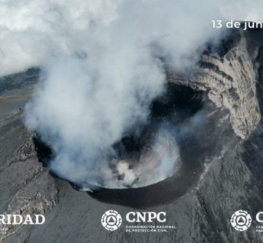 June 15, 2020. EN. Philippines : Kanlaon / Mayon / Taal , Indonesia : Semeru , Guatemala : Fuego , Mexico : Popocatepetl .