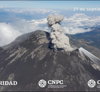 September 28, 2019. EN. Mexico : Colima , Mexico : Popocatepetl , Indonesia : Anak Krakatau , Colombia : Chiles / Cerro Negro .