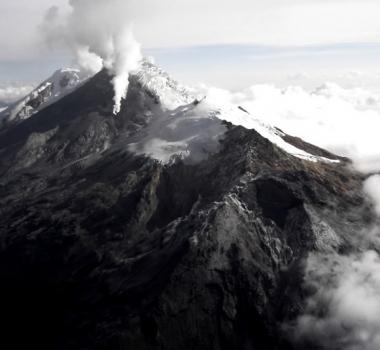 October 16, 2019. EN. Colombia : Nevado del Huila , Peru : Sabancaya , Indonesia : Karangetang , Guatemala : Fuego .