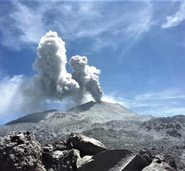 January 22 , 2019 . EN.  Peru : Sabancaya , Colombia : Nevado del Ruiz , Indonesia : Agung , Philippines : Bulusan , Vanuatu Archipelago : Ambae .