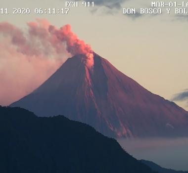 June 13, 2020. EN . Ecuador : Sangay , Indonesia : Merapi , Hawaii : Mauna Loa , Guatemala : Pacaya .