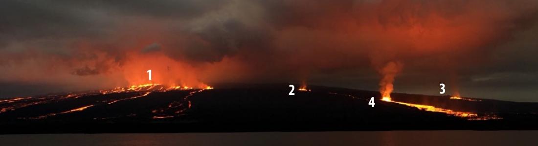 24 Juillet 2018. FR. Equateur / Galapagos : Sierra Negra , Perou : Sabancaya , Hawai : Kilauea , Indonésie : Agung .