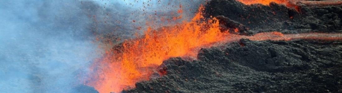 30 Juillet 2019. FR . La Réunion : Piton de la Fournaise , Italie : Stromboli , Perou : Ubinas , Kamchatka : Sheveluch , Indonésie : Tangkuban Parahu .