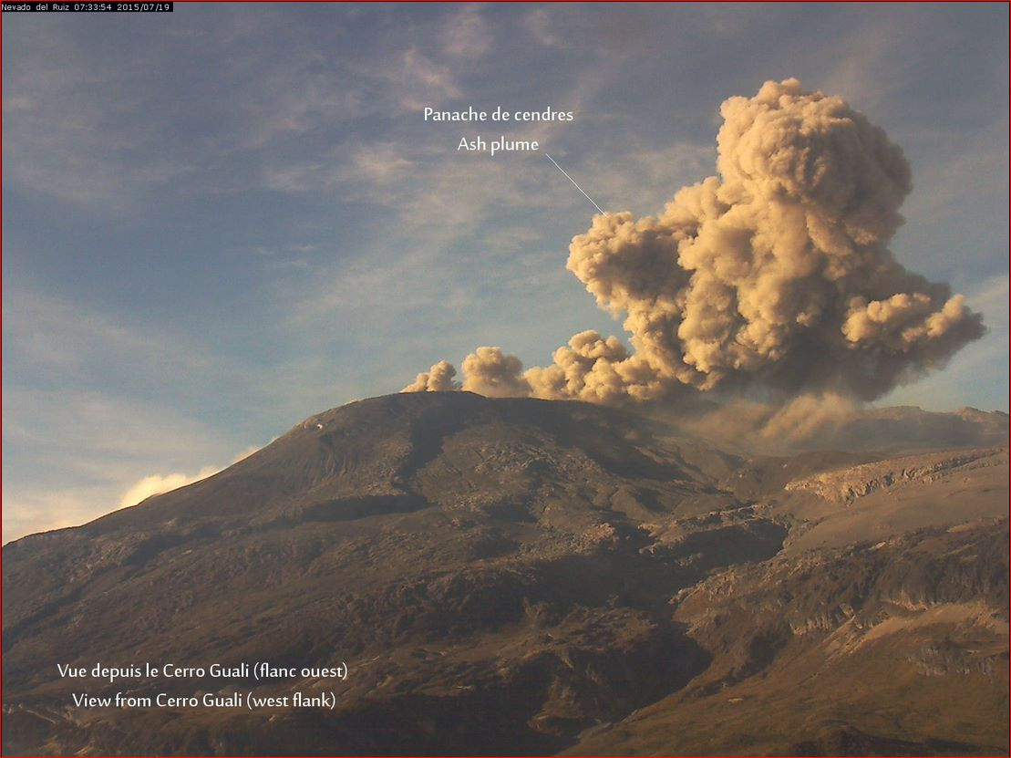 July 20 , 2015. English.  Eruption :  Special report , Nevado Del Ruiz.