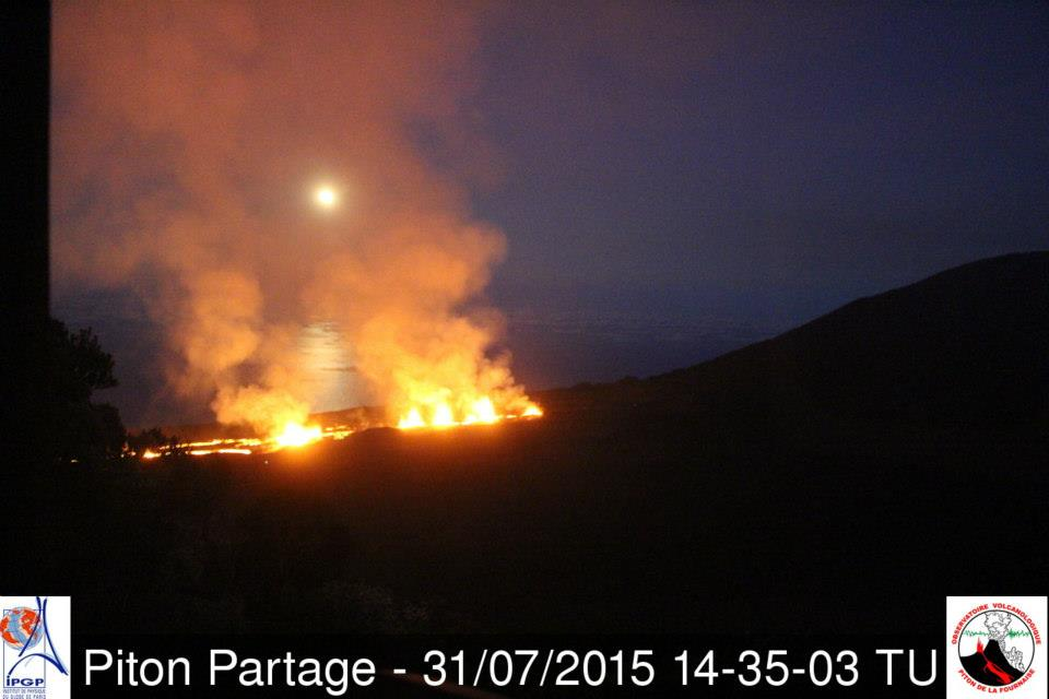 August 01, 2015. English . Piton de la Fournaise , Raung ,  Ubinas .